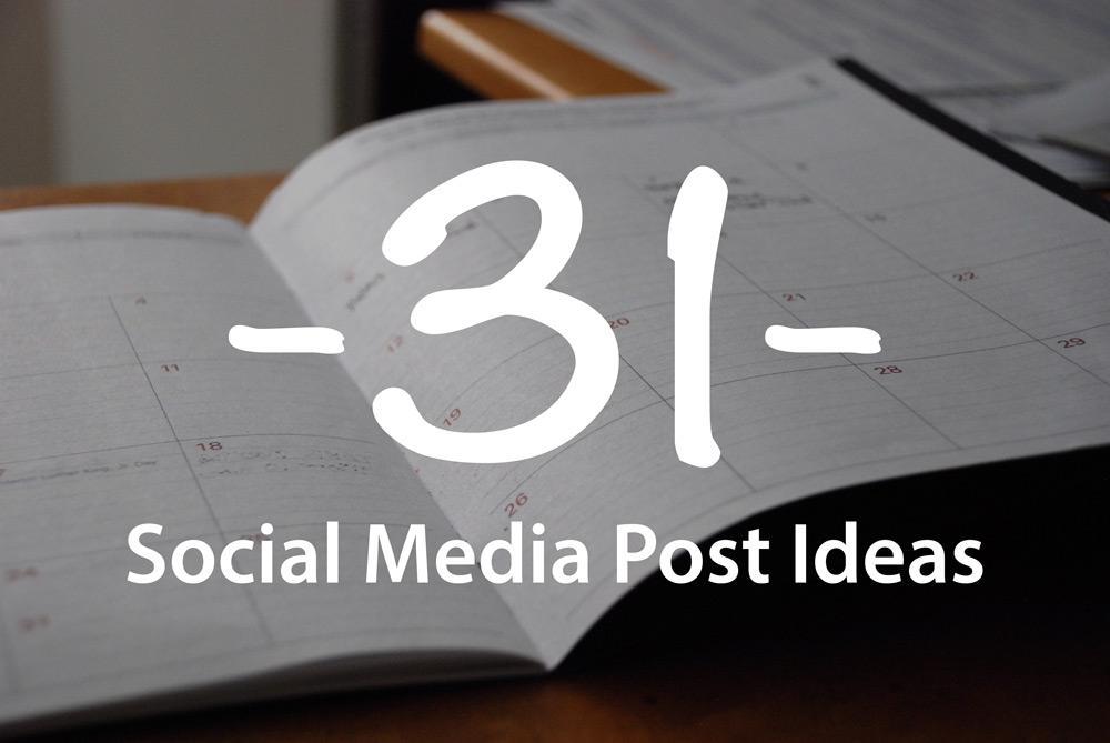 31 Social Media Post Ideas for your church - Adam McLaughlin
