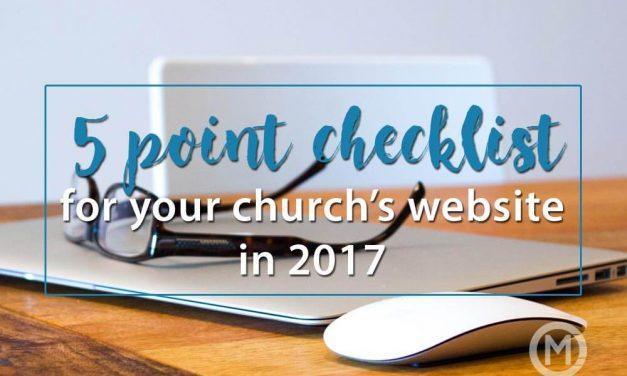 5 Point Checklist for your Church's Website
