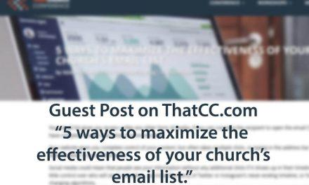 5 Ways to maximize your email list: Guest Post on ThatCC.com