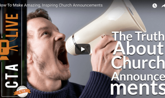 All things Church Announcements: Talking with Church Training Academy!