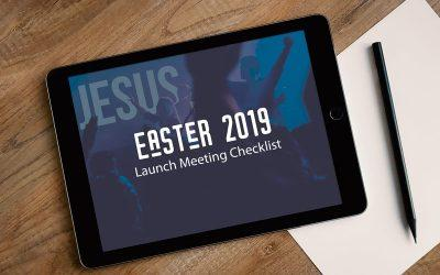FREE Easter Planning Meeting Checklist