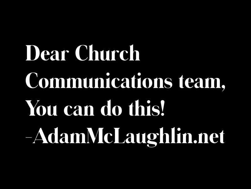 Church communications team