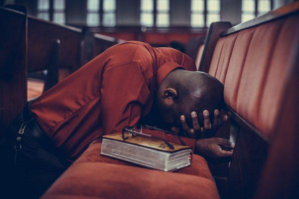 may praying at church